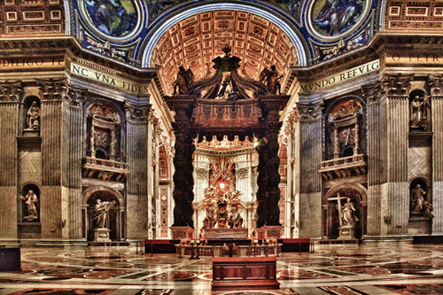 St Peters Throne-Vatican City Rome