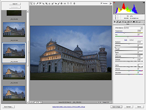 Leaning Tower of Pisa - CR2 Raw image