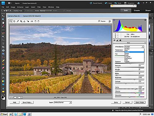 Siena Farmhouse – Camera Raw 6.1 Elements 9 Basic Pallet