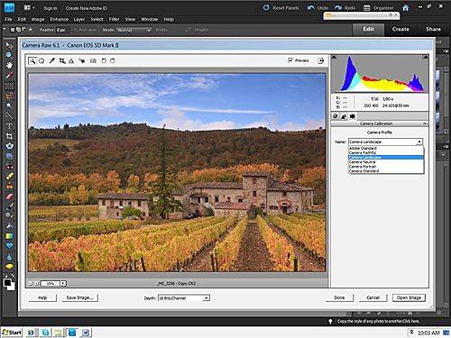 Siena Farmhouse – Camera Calibration – Camera Landscape