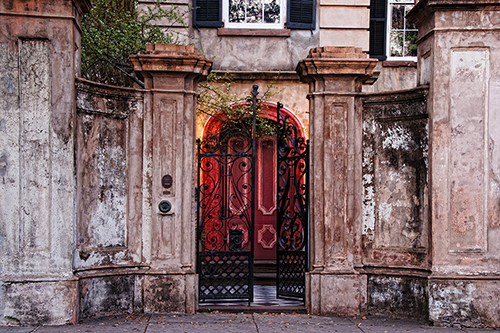 Charleston Wrought Iron Gates and Doorway