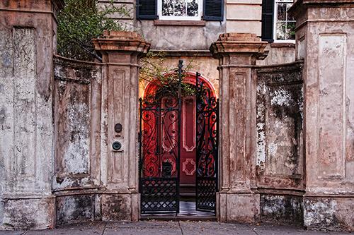 Charleston Wrought Iron Gates and Doorway