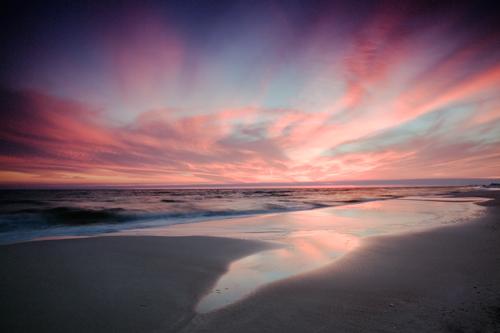 Sunset at Grayton Beach State-Park, unprocessed