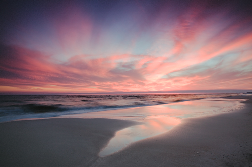 Sunset at Grayton Beach State Park, processed