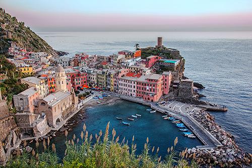 Pastel Sunset – Cinque Terre, Italy