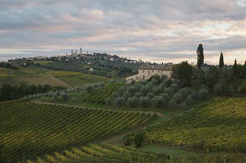 San Gimignano, unprocessed image