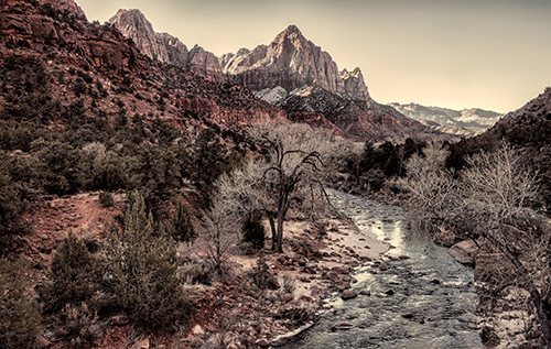 The Watchman look down on the Virgin River