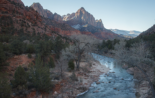 Raw image - The Watchman Zion National Park