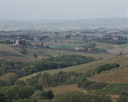 San Gimignano unprocessed from the original negative