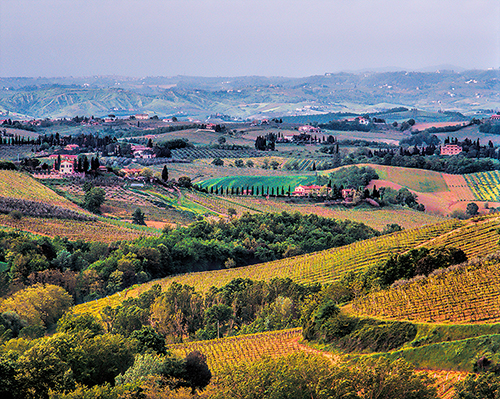 Landscape near San Gimignano processes using Topaz Software