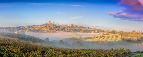 San Gimignano, Morning Mist