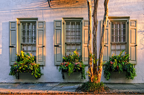 Three Windows of Charleston processed with Topaz software