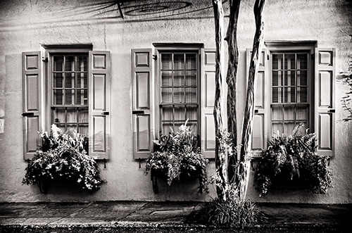 Three Windows. Charleston-Silver Efex Pro