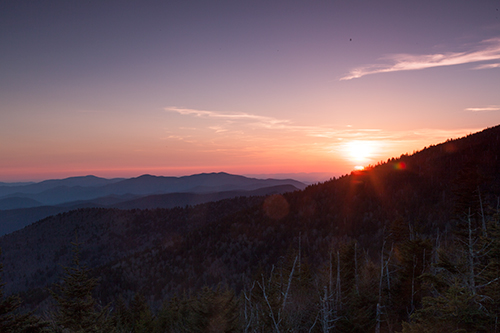 Sunset at Clingmans Dome - Unprocessed