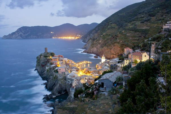 Vernazza and Monterosso at Night captured by Vince Cordi