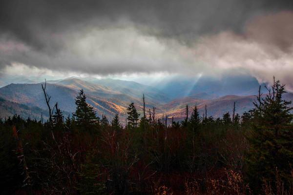 Clingman's Dome - Gods rays