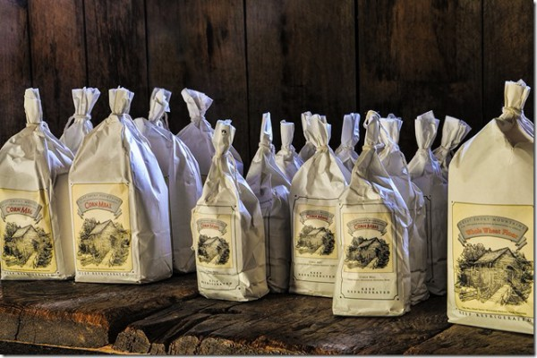Flour ground in a Smoky Mountain Grist Mill