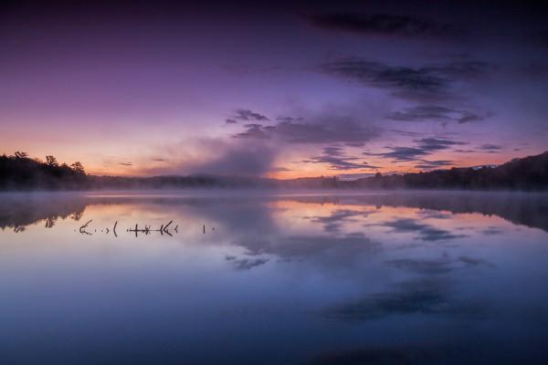 Misty Morning Sunrise - Munising, Michigan