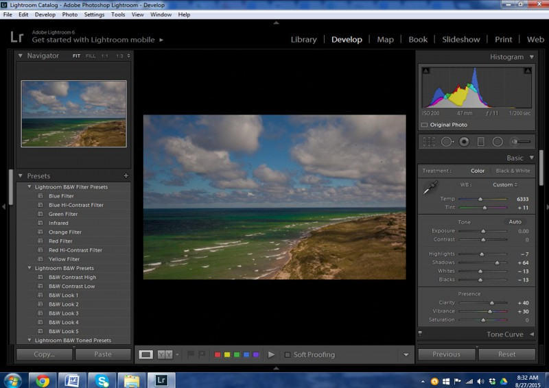 Ludington Beach processed in Lightoom