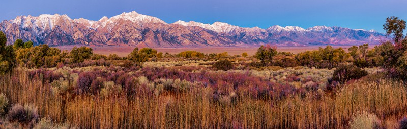Morning Light on Mount Whitney in the High Sierras