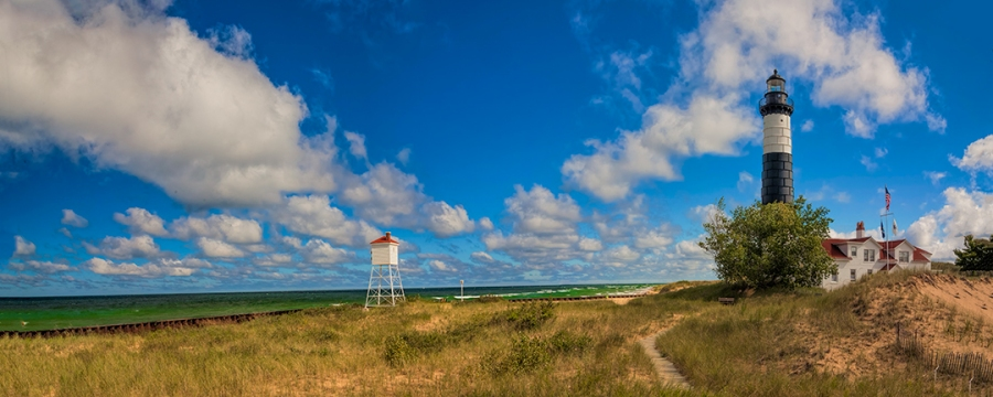 HDR Pano Big Sable Lighthouse